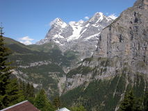 The Eiger from Murren, Switzerland Royalty Free Stock Photography