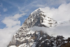 Eiger north face. (Famous peak in the Jungfrau region royalty free stock photos