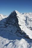Eiger North Face. Winter in the Swiss high alps, famous Eiger North Face stock images
