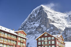 Eiger North Face. From Kleine Scheidegg, Switserland royalty free stock photos