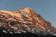 Eiger north face in the evening Royalty Free Stock Images