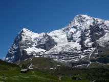 Eiger north face and Moench north face Royalty Free Stock Photos