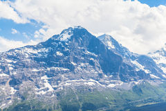 Eiger north face. View of the famous north face of Eiger, Switzerland stock images