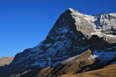 Eiger North Face, view from Kleine Scheidegg Stock Images