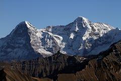Eiger och Monch Royaltyfri Bild