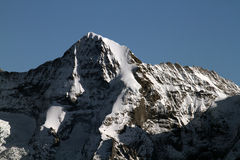 Eiger Northface. In the Swiss alps royalty free stock photos