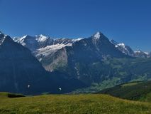 Eiger And Paraglider Stock Image