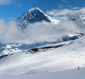 Eiger. Ski resort of Grindelwald in Switzerland. Stock Photography