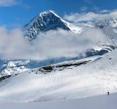 Eiger. Stazione sciistica di Grindelwald in Svizzera. Fotografia Stock