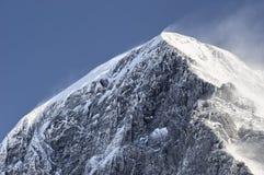 Eiger summit. High winds on the Eiger summit, Kleine Scheidegg, Zwitserland Autumn Royalty Free Stock Photography