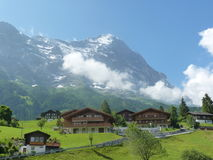 Eiger. Switzerland, Grindelwald. The north face od the Eiger royalty free stock photos