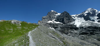 Eiger trail in Switzerland Royalty Free Stock Photography