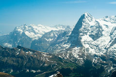 Eiger and Wetterhorn Royalty Free Stock Photos