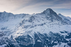 Eiger in Winter Royalty Free Stock Photography