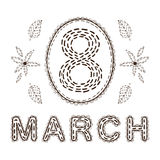 The eight 8 of march date. Royalty Free Stock Image