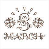 The eight 8 of march date. Stock Images