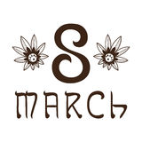 The eight 8 of march date. Royalty Free Stock Photos