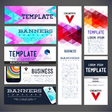 Eight abstract design banners vector template design Stock Photography