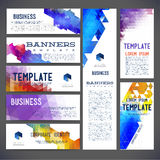 Eight abstract design banners vector template design Royalty Free Stock Image