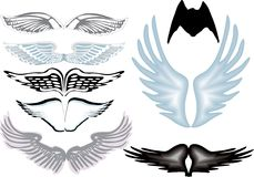 Eight angel wings Stock Photo
