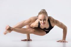 Eight-Angle Pose, Astavakrasana Royalty Free Stock Photography