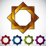 Eight angle star icon. Stock Image