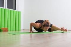 Eight angle yoga pose Stock Photos