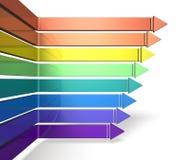 Eight arrows toward the right Stock Photography