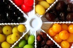 Eight assorted berries Stock Photo