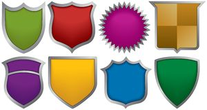 Eight badges for logos. Eight multi-colored badges for logos Royalty Free Stock Photography