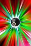 Eight ball. Number eight pool ball on bright background royalty free illustration