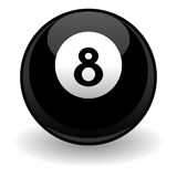 Eight ball. Isolated over white square background Stock Photos
