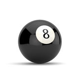 Eight ball. 3d render of eight ball  on white background Royalty Free Stock Image