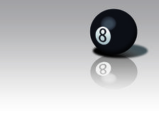 Eight Ball. Pool eight ball with shadow and reflection vector illustration