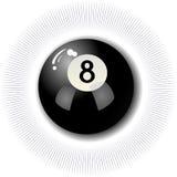 Eight Ball. Eight-Ball Pool Billards Illustration Royalty Free Stock Photo