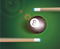 The 8 ball . Billiard Background stock illustration