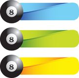 Eight ball on colored tabs Stock Image