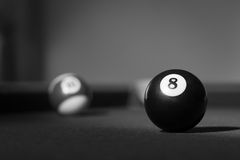 Eight Ball corner pocket Stock Photography