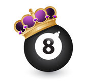 Eight ball with a crown. Illustration design over a white background Stock Photo