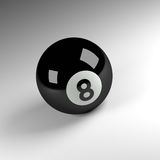 Eight ball 3d render Royalty Free Stock Images