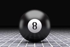 Eight ball. 3d rendering of an eight billiard ball Stock Images