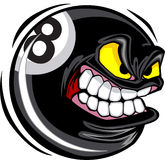 Eight ball Face Vector Image. Eight ball Ball Face Illustration Vector Royalty Free Stock Image
