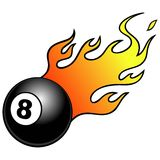 Eight ball with Flames Royalty Free Stock Photography