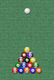 Eight-Ball game (Illustration) Royalty Free Stock Images