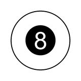 Eight ball isolated icon Stock Photo