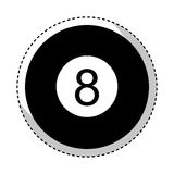 Eight ball isolated icon. Vector illustration design royalty free illustration