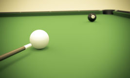 Eight Ball Next to Corner Pocket royalty free stock image
