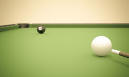 Eight Ball Next to Corner Pocket Royalty Free Stock Images
