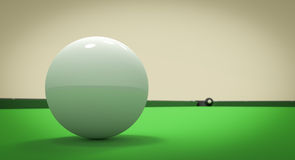 Eight Ball Next to Corner Pocket Stock Photography