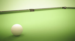 Eight Ball Next to Corner Pocket Royalty Free Stock Photos